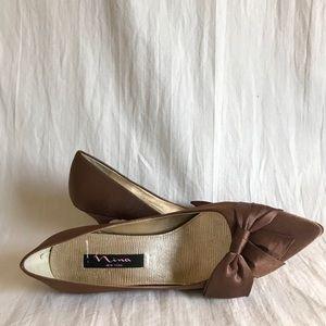 Brown Satin Nina Heels